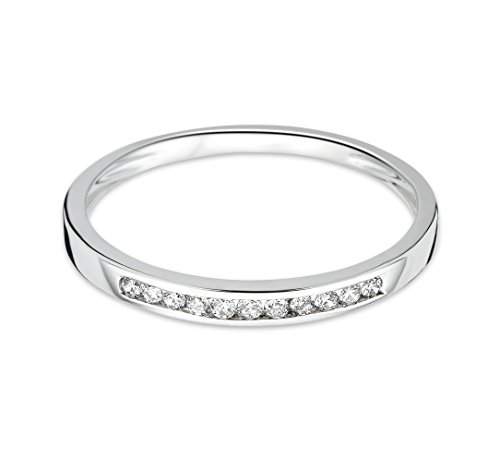 Miore - Alliance - Or blanc 9 cts - Diamant 0.1 cts White Gold