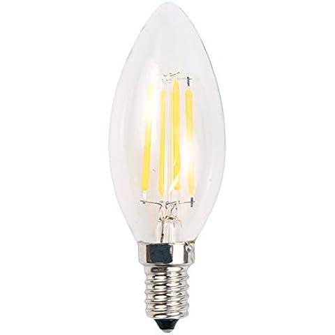 Hrph Bulbo de 4W regulable LED 220V Filamento Luz de velas de los candelabros E14 3000K Base de la lámpara de la bala C35 / superior de la