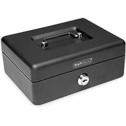 Rapesco money - Caja fuerte portátil de 15 cm de ancho con portamonedas interior