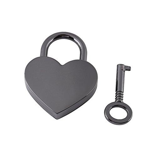GLOGLOW Candado pequeño de Metal con Forma de corazón, Bolsa de Equi