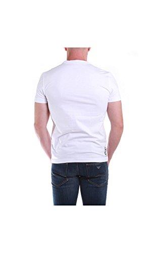 Emporio Armani EA7 Herren T-Shirt Kurzarm Kurzarmshirt runder Kragen Grün White