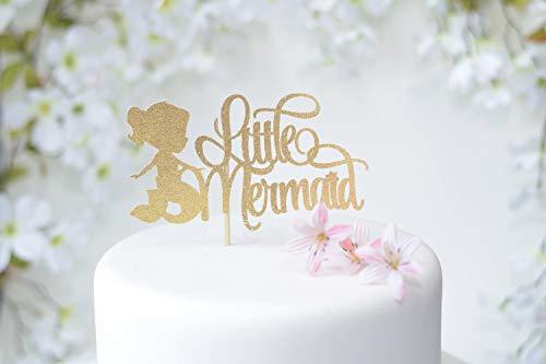 Meerjungfrau Cake Topper Gold unter dem Meer Cake Topper Cake Topper f¨¹r Meerjungfrau Geburtstag Mermaid Motto Party Dekoration ()