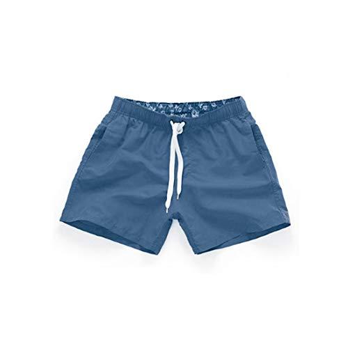 MUCHAO Pantalones Cortos de Playa de Verano para Hombre de Pantalones de baño de Color sólido de Secado rápido para Uso Casual