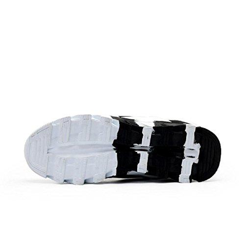 Uomo Scarpe sportive Antiscivolo traspirante Aumento Formazione Scarpe da corsa Scarpe da ginnastica black and white