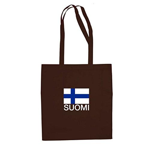Finnland / Suomi - Stofftasche / Beutel Braun