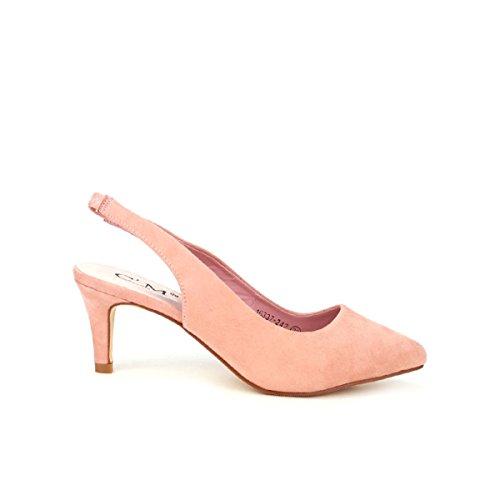 Cendriyon, Escarpin Rose C'M PARIS Chaussures Femme Rose