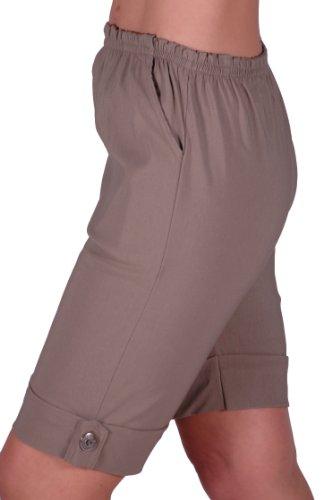 EyeCatch - Short stretch élastique grandes tailles - Eta - Femme Moka