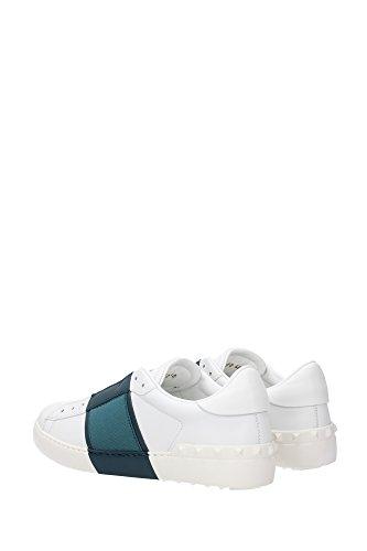 LY2S0938BVC297 Valentino Garavani Sneakers Homme Cuir Blanc Blanc