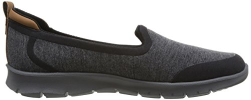 Clarks Damen Step Allena Lo Slipper Schwarz (Black)