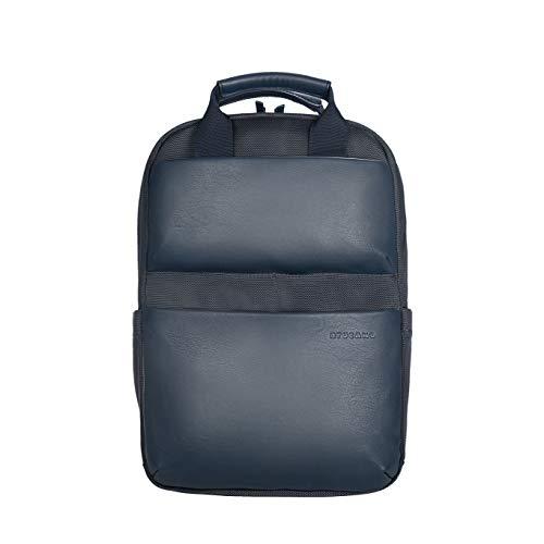 Tucano - Comfort - Zaino per laptop 13.3'/Notebook 14'/Macbook Pro 13. Materiale tecnico. Dettagli in ecopelle. Tasche interne per notebook o MacBook, tablet o iPad. Schienale ergonomico. Blu Scuro