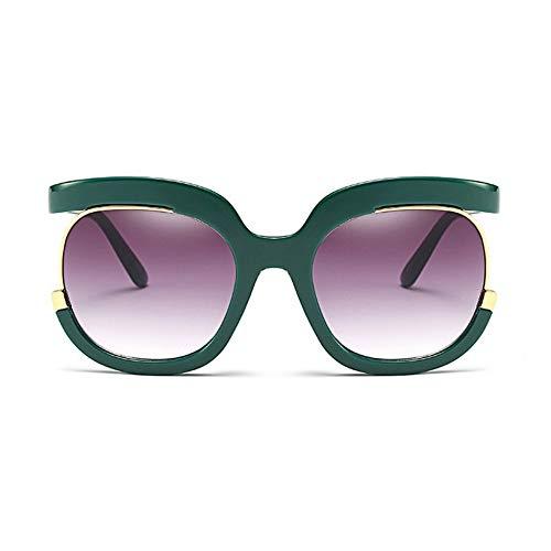 MoHHoM Sonnenbrille Sonnenbrille Frauen Übergroße Große Hälfte Rahmen Uv400 Vintage Sonnenbrille Retro Brillen Für Die Weiblichen Grün