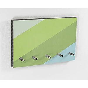 Schlüsselbrett | Greenhouse | Color Bars | 5 Haken | Natur Farben | Grün | Hellgrün | Wohntrend | Hakenleiste | Flur | Wohnen mit Farbe