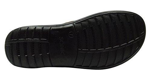 Sonic Hommes lanières de chaussures bascule sandale d'été flop extérieur pantoufle occasionnel Marron