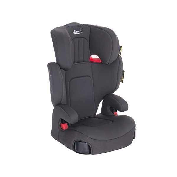 Graco Assure GRP 2/3 Booster Car Seat, Midnight Grey Graco For children 15 to 36 kg (approx. 4 to 12 years) Convenient one-hand adjustable headrest Safety surround impact protection and height-adjustable padded armrest for comfort 2