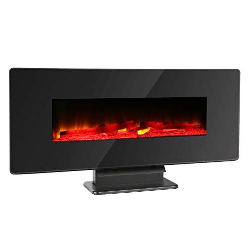 SWEEPID - Chimenea eléctrica de pared con simulación de llamas, iluminación de...