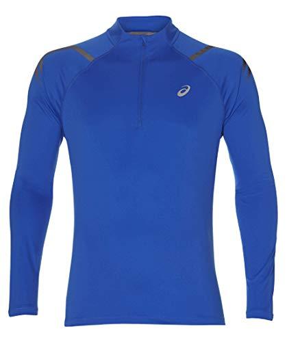 ASICS Icon Half-Zip Laufshirt Herren blau, L (52 EU) -