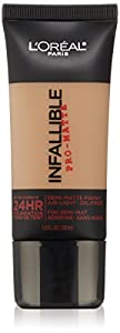 L'Oreal Paris Cosmetics Infallible Pro-Matte Foundation Makeup - Caramel Beige