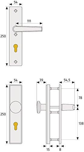 ABUS Tür-Schutzbeschlag HLS214 F4 mit beidseitigem Drücker, 08301 - 3