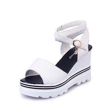 Scarpe Donna FYZS Donne Sandali Primavera Estate Autunno Club Shoes Pu Ufficio esterno e carriera casuale che cammina Zeppa Platfor US8.5 / EU39 / UK6.5 / CN40