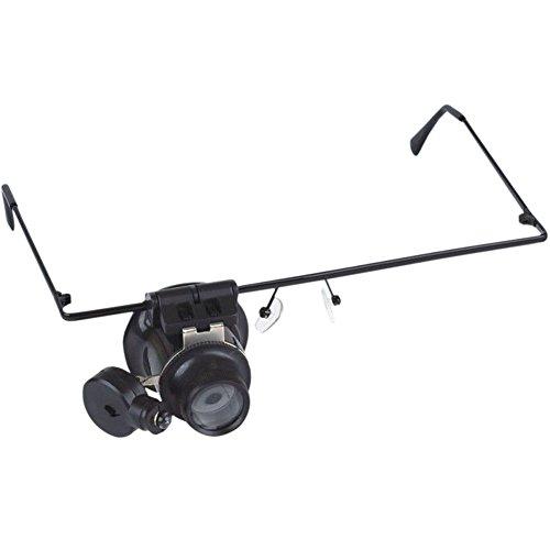 Hrph 10x 20x LED Lupe Doppel-Augen-Glas-Lupe-Objektiv-Juwelier-Uhr-Reparatur-Werkzeug