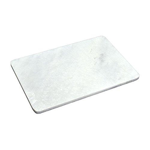 Dessous de plat en marbre - rectangulaire - pour repas chaud - 300 x 200 mm - blanc