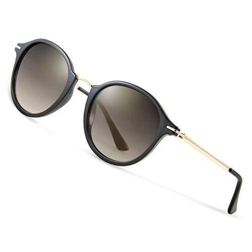 Elegear Sonnenbrille Damen Sonnenbrille Retro Verlaufsglas Sonnenbrille Vintage Retro-Collection, 100% UV400-Schutz mit mit Beeindruckende Farbverstärkung Klarheit und Komfort, Sunglasses Woman
