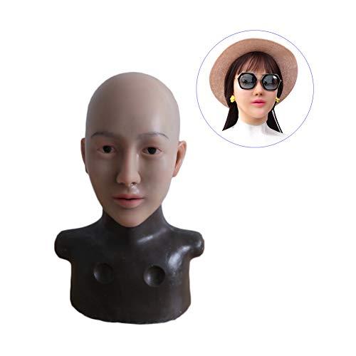 WANGXN Weibliche Maske Silikon Halloween Weihnachten Pretty Angel Face Cosplay Männlich zu Weiblich