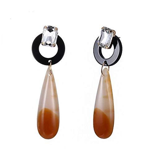 ZHWM Ohrringe Ohrstecker Ohrhänger Acryl Tropfen Wasser Ohrringe Schwarz & Kaffee Farbe Kristall Baumeln Ohrringe Neuheiten Modeschmuck