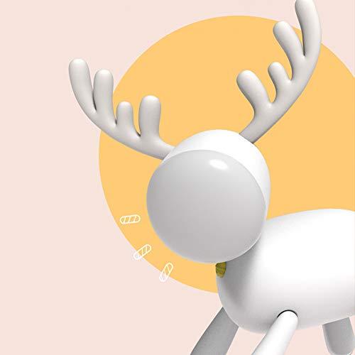 ZXCVAM Schreibtischlampe Leselampe \u0026 Nachtlicht für Welpen - drehbare Beine \u0026 Verstellbarer Kopf - wiederaufladbare USB-Tischlampe für niedliche Minitiere -