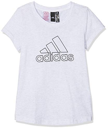 adidas Mädchen ID Winner T-Shirt, White/Solid Grey/Black, 164 -