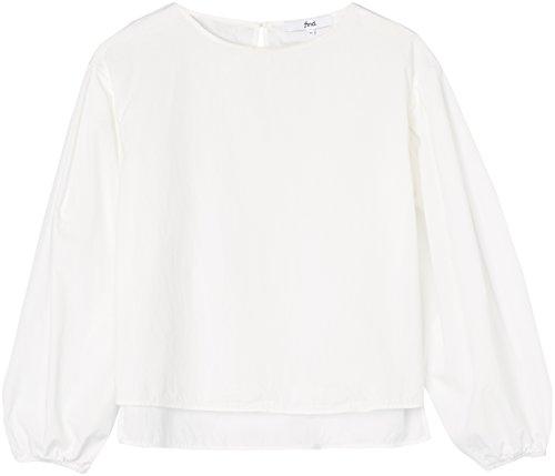 FIND Blusa con Manica a Palloncino Donna Bianco (White)