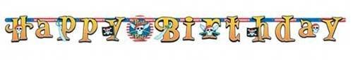 "Girlande Happy Birthday ""Piraten-Party"" 220 cm"
