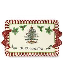 Spode Serveware, Christmas Tree Peppermint Platter by Spode