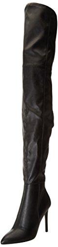 Steve Madden Damen Kristen Kurzschaft Stiefel, Schwarz (Black PU), 39 EU (Madden-stiefel Frauen Für Steve)