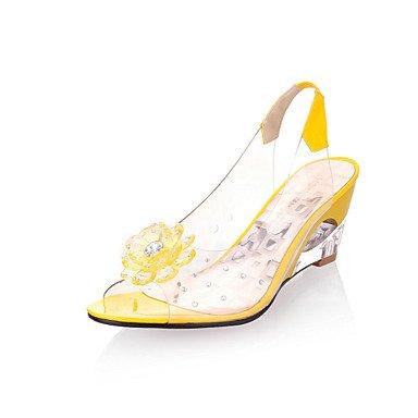 LvYuan Da donna-Sandali-Formale Casual-Comoda Club Shoes-Zeppa-Gomma-Nero Blu Giallo Rosso Bianco Red
