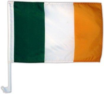 Autofahne Autoflagge Irland 30 x 45 cm [Spielzeug] (Irland Wappen)