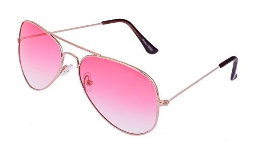 Pilot Gafas Gafas de sol aviador gafas porno con bisagra con resorte en varios color Rosegoldener Rahmen / Pink Gläser Talla única