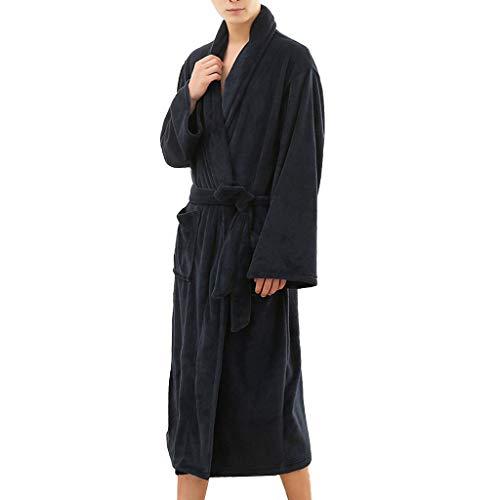➤Refill➤ Bademäntel für Herren - 100% Baumwolle,Bademantel aus Baumwollfrottee,3 Taschen, Saunamantel mit Schalkragen, Weich, Saugfähig und Bequem Nachtwäsche für Herren