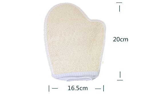 Baanuse Luffaschwämme, Luffahandschuhe Luffa Schwamm Massagehandschuh Wellness Peeling Handschuh, 1 Stück