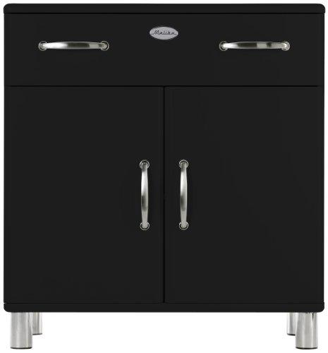 Tenzo 5127-033 Malibu - Designer Kommode 92 x 86 x 41 cm, MDF lackiert, schwarz