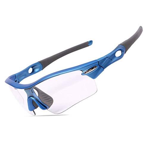 Minzhi Rad Up Sport Photochromic Polarisations-Brille Radfahren Brillen Fahrrad Glas Reiten Unisex Bike Sonnenbrillenschwarz