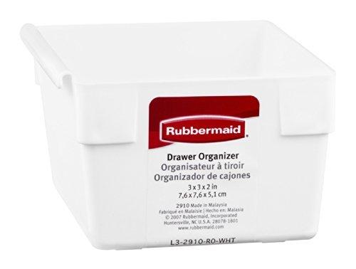 Rubbermaid 2910RDWHT Schubladen-Organizer, 7,6 x 7,6 x 5,1 cm - Schublade Rubbermaid Organizer