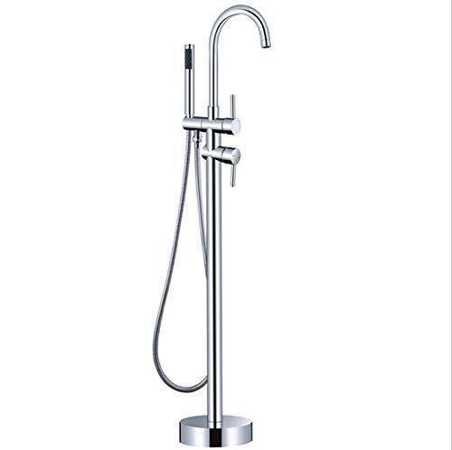 Tochange Standmontierte Stehende Badewanne Wasserhahn Doppelgriff Badewanne Mischbatterie Mit Handbrause, Badezimmer Duschsysteme,TriangleFixedseat -