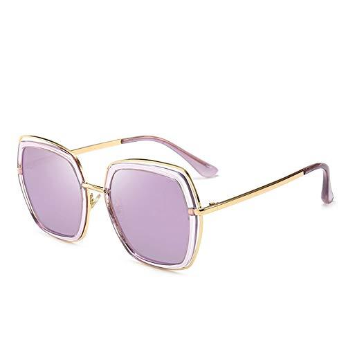 Polarisierte Sonnenbrille Frauen Metall Katzenaugen Helle Film Frauen Uv-schutz, Geeignet Für Dekoration, Sonnenschirm, Reise, Fahren.Geeignet Für Eine Vielzahl Von Gesichtstypen ( Color : Purple )