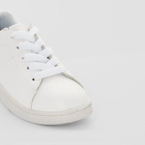 R Kids Mdchen Und Jungen Sneakers weiss + blau