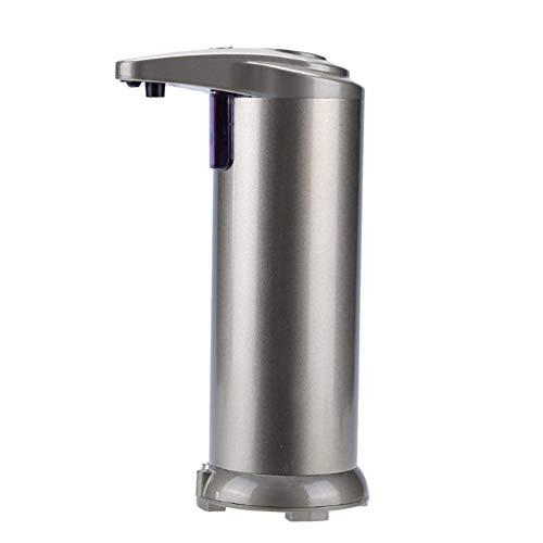 Ouken Automatik Edelstahl Seifenspender Doppelknöpfe Berührungslose Infrarot Bewegungsmelder Sensor Seifenspender Auto Hands-Free Liquid Desinfektionsmittel Spender (Champagner) -