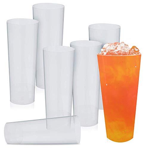-Gläser, Trinkbecher 300ML - Hart Kunststoff Bierglas, Kölschglas - Transparent, Haltbar, Unzerbrechlich - Wiederverwendbar, Einweg, Recyclebar| Camping, Gartenparties, Picknicks. ()