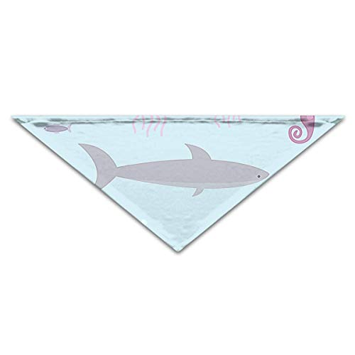 deyhfef Aquatic Life Pet Dog Cat Puppy Bandana Triangle Head Scarfs (Life Aquatic Kostüm)