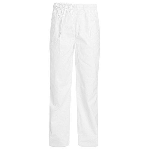 WORK AND STYLE Hose Mit Gummibund Linie Bianco - Weiß, 2XL