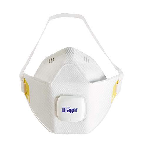 Dräger X-plore 1910 V Mascarilla de protección respiratoria FFP1   Lote de 10 máscaras Anti Polvo con válvula   Apta para Trabajos de construcción, Bricolaje